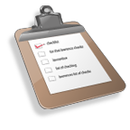 A checklist on a clipboard