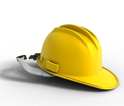 A yellow hard hat.