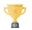 A trophy cup.