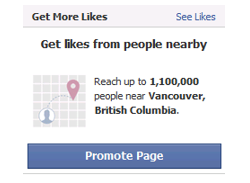 Facebooks promote page