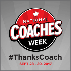 National Coaches Week September 23-30, 2017