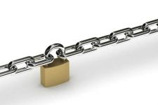 A chain with a padlock on it.