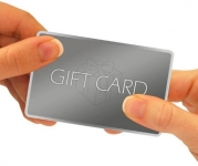 A gift card.