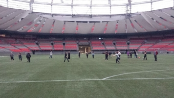Photo of the retreat participants in BC Place