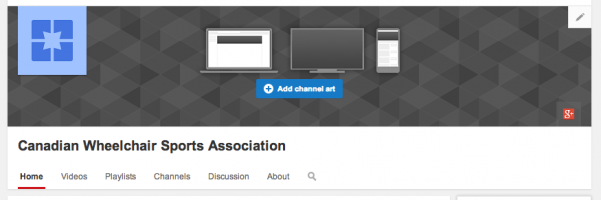 Canadian Wheelchair Sports Assoc. Youtube Channel home