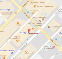 Click here for a map to Telus Gardens