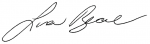 Minister Lisa Beare signature