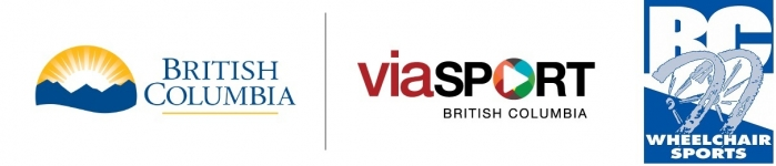 Province of BC, viaSport, and BC Wheelchair Sports logos