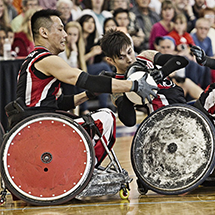 Ian Chen and Trevor Hirschfield Wheelchair Rugby