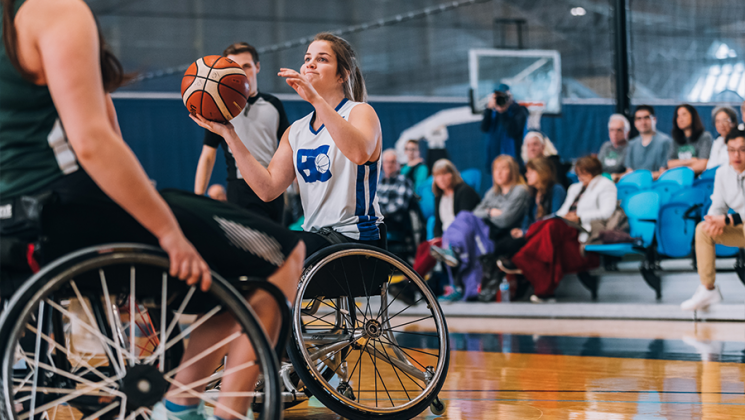 Wheelchair basketball athletes
