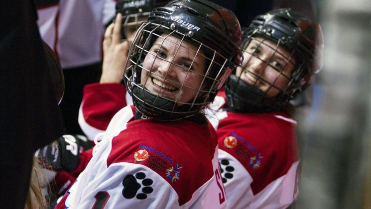 Girls hockey team at the Canada Winter Games