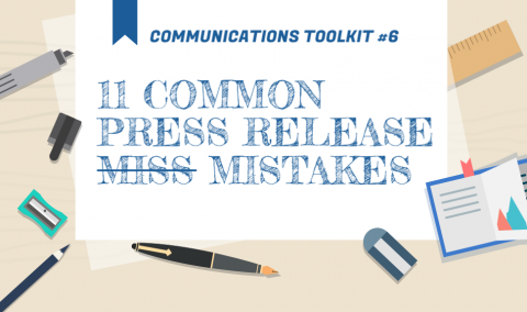 Banner reading Eleven common press release mistakes