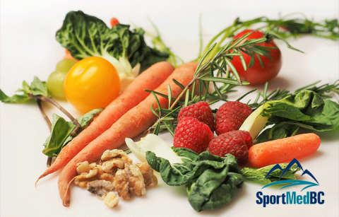 vegetables with SportMedBC logo