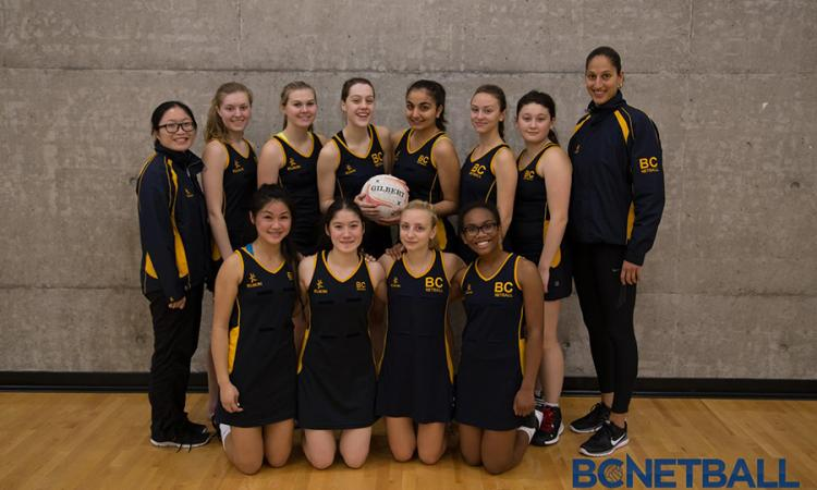 BC Under 18 Provincial netball team